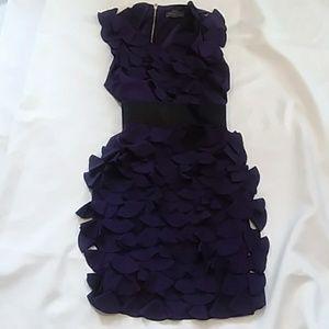 GRACIA evening dress purple petals  size small